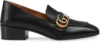 Gucci Leather Double G loafer