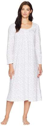 Eileen West Cotton Jersey Ballet Long Sleeve Nightgown Women's Pajama