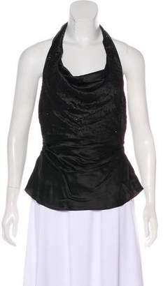 Laundry by Shelli Segal Embellished Silk Top w/ Tags
