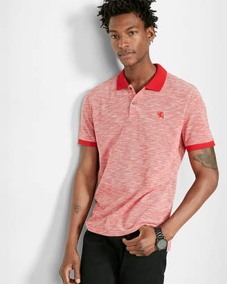 Express Textured Small Lion Pique Polo