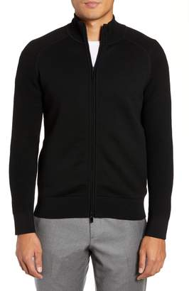 Ermenegildo Zegna Trim Fit Wool Zip Cardigan