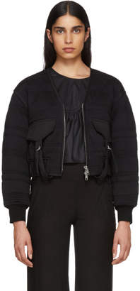 Black Quilted Utility Jacket