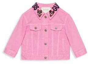 Gucci Baby Girl's Denim Embroidered Jacket