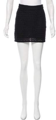Frame Open Knit Mini Skirt