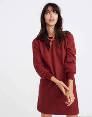 Madewell Bubble-Sleeve Sweatshirt Dress