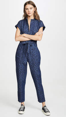 Rebecca Taylor Sleeveless Faunce Denim Jumpsuit