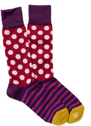 Paul Smith Block Stripe & Polka Dot Socks $30 thestylecure.com