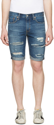 Levi's Indigo Denim 511 Shorts $70 thestylecure.com