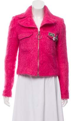 American Retro Mohair Zip-Up Jacket