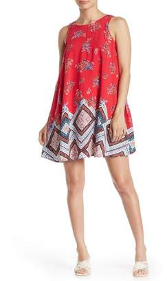 Taylor & Sage Mixed Border Print Sheath Dress