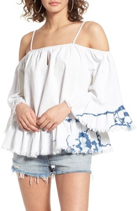Women's Blanknyc Off The Shoulder Shirt $88 thestylecure.com