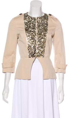 Gryphon The Sequin Officer Peplum Jacket