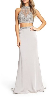 Women's La Femme Embellished Two-Piece Gown $468 thestylecure.com