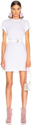 Enza Costa Short Sleeve Crew Mini Dress in White   FWRD
