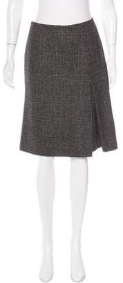Loro Piana Plaid Alpaca Skirt