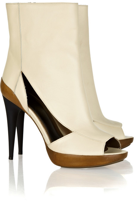 Marni Cutout leather ankle boots