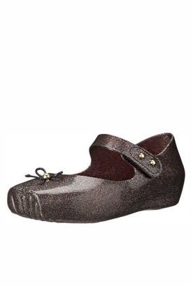 Mini Melissa Glitter Balllet Flats $54 thestylecure.com