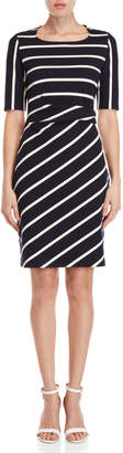 Yumi Striped Ponte Dress