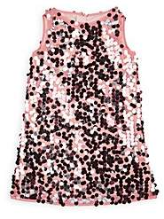 Milly Kids' Paillettes-Embellished Tulle Dress - Pink