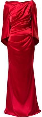 Talbot Runhof Bossa draped gown