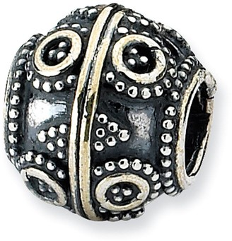 Prerogatives Sterling Circle & Diamond Shapes Artisan Bead