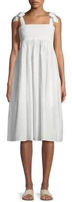 Marysia Swim Lahaina Smocked Cotton Dobby Coverup Dress