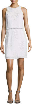 Aidan Mattox Beaded Blouson Sleeveless Mini Cocktail Dress