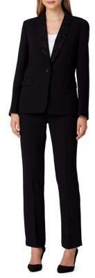 Tahari Arthur S. Levine Embellished Collar Pant Suit