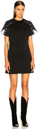 Calvin Klein Snap Cape Sleeve Mini Dress