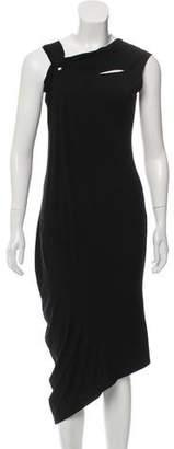 Zero Maria Cornejo Asymmetrical Sleeveless Midi Dress