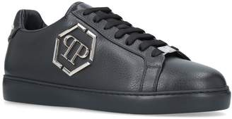 Philipp Plein Leather Over The Top Sneakers