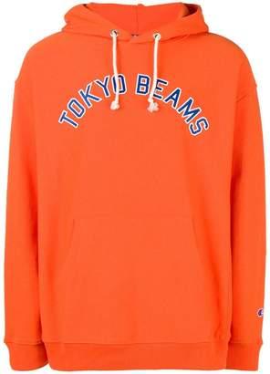 Champion slogan hooded sweatshirt