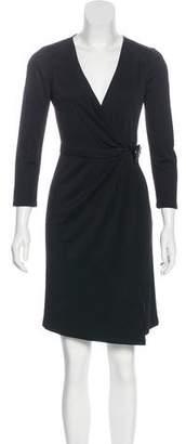 Gucci Long Sleeve Wrap Dress
