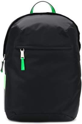 Prada side logo patch backpack