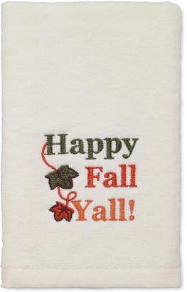 Avanti Last Act! Happy Fall Yall Cotton Embroidered Hand Towel Bedding