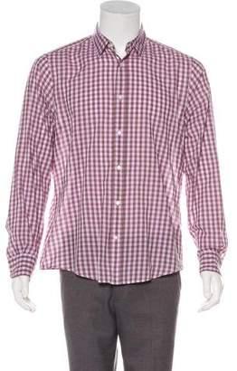 Vince Gingham Woven Shirt