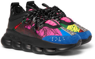 Versace Chain Reaction Panelled Neoprene Sneakers - Men - Multi