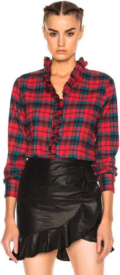 Etoile Isabel Marant Awendy Ruffled Check Shirt