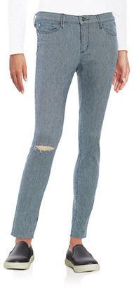 Buffalo David Bitton Faith Striped Skinny Jeans $89 thestylecure.com