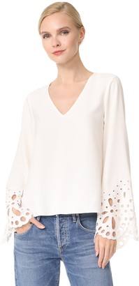 Ramy Brook Remi Embroidered Blouse $345 thestylecure.com