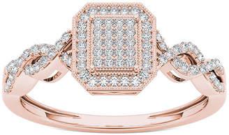 MODERN BRIDE 1/5 CT. T.W. Diamond 10K Rose Gold Engagement Ring