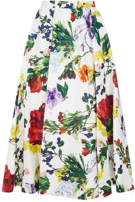 Alice + Olivia Earla Floral Midi Skirt