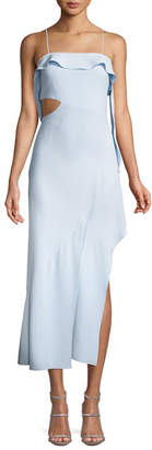 Jonathan Simkhai Cutout High-Low Ruffle Cocktail Dress