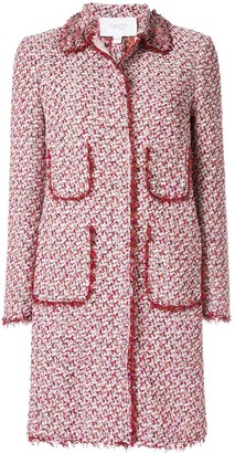 Giambattista Valli tweed single breasted coat