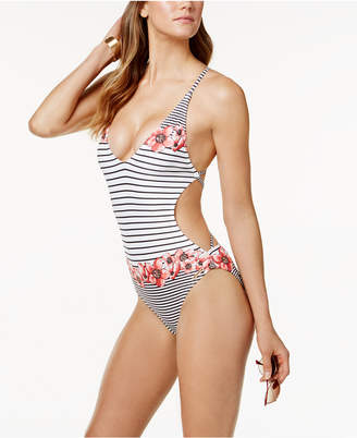 Vince Camuto Blossom Plunge Monokini One-Piece Swimsuit Women's Swimsuit