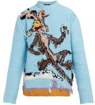 Calvin Klein Looney Tunes Reverse Intarsia Wool Sweater - Mens - Multi