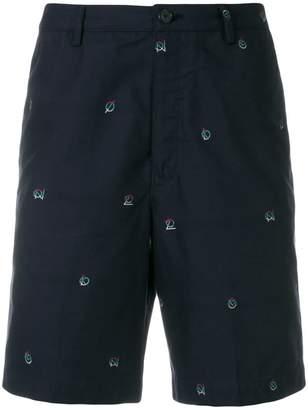 Kenzo mini logo embroidered shorts