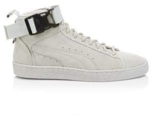 Puma Suede Buckle Strap High-Top Sneakers