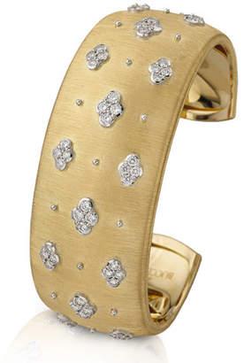 Buccellati Macri AB 18k Yellow Gold Diamond Cuff