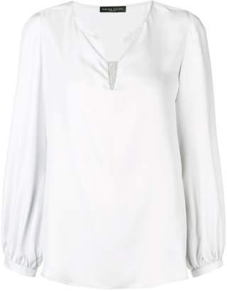 Fabiana Filippi embellished V-neck blouse